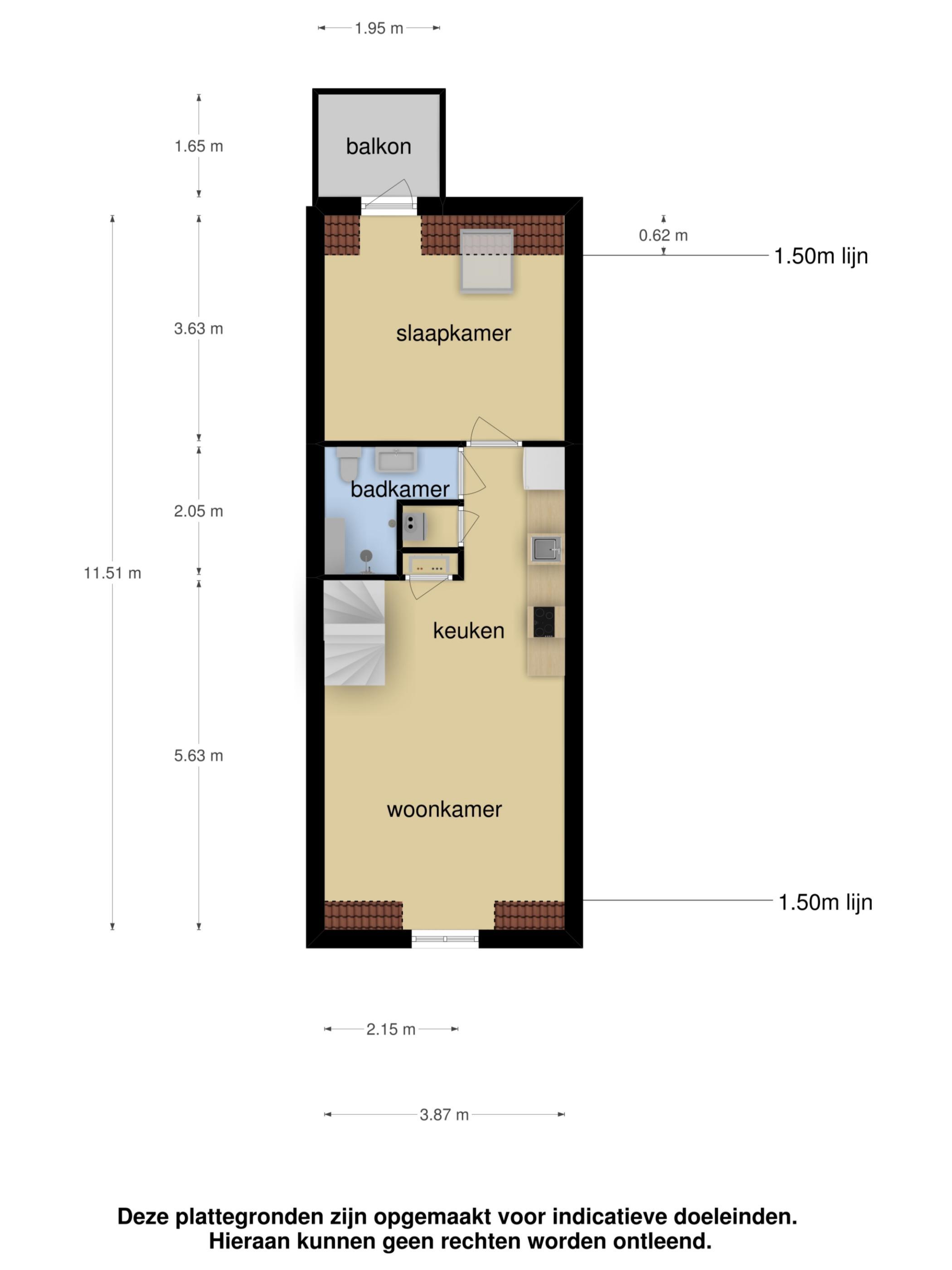 Apartment For Rent Kinkerstraat 200-IV, 1053 EL te Amsterdam