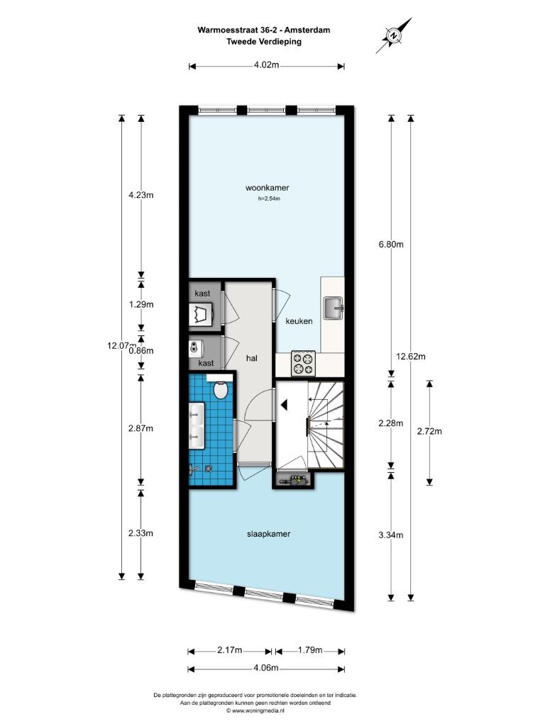 Warmoesstraat 36-II, Amsterdam, Noord-Holland Nederland, 1 Slaapkamer Slaapkamers, ,1 BadkamerBadkamers,Appartement,Huur,Warmoesstraat ,2,1310