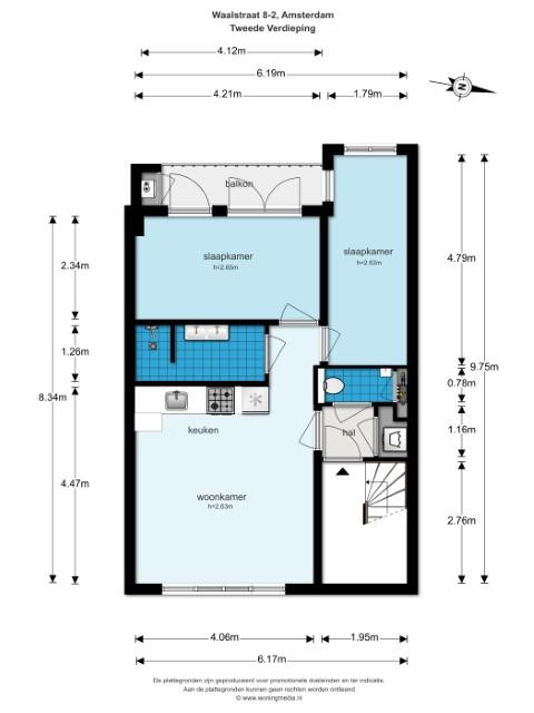 Waalstraat 8 II 1078 BS, Amsterdam, Noord-Holland Netherlands, 2 Slaapkamers Slaapkamers, ,1 BadkamerBadkamers,Appartement,Huur,Waalstraat,2,1337
