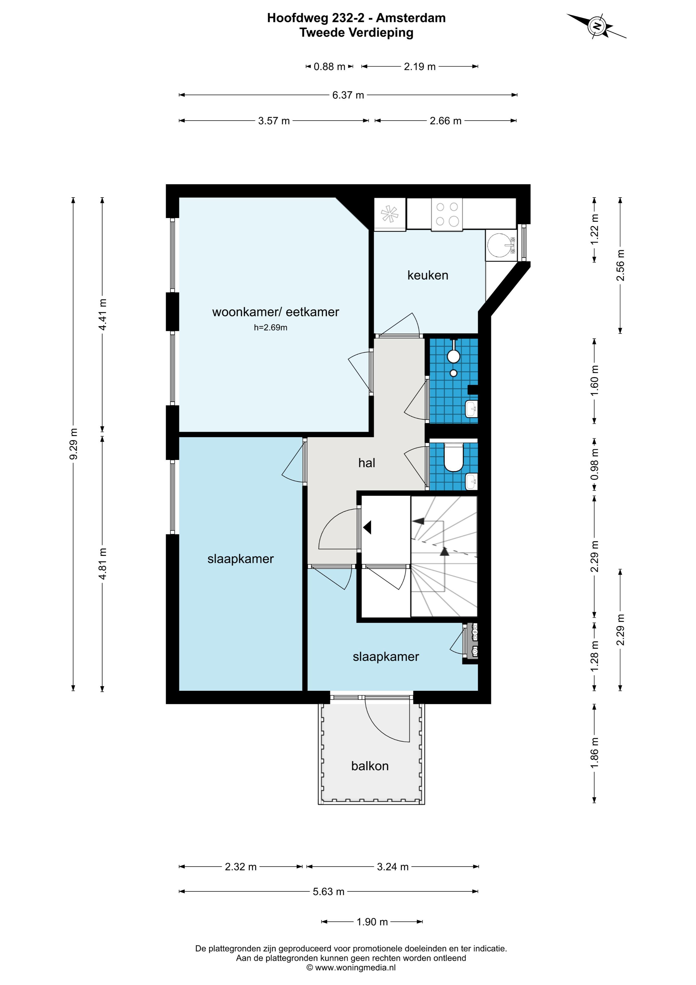 Hoofdweg 232 II, Amsterdam, Noord-Holland Netherlands, 2 Slaapkamers Slaapkamers, ,1 BadkamerBadkamers,Appartement,Huur,Hoofdweg ,2,1411
