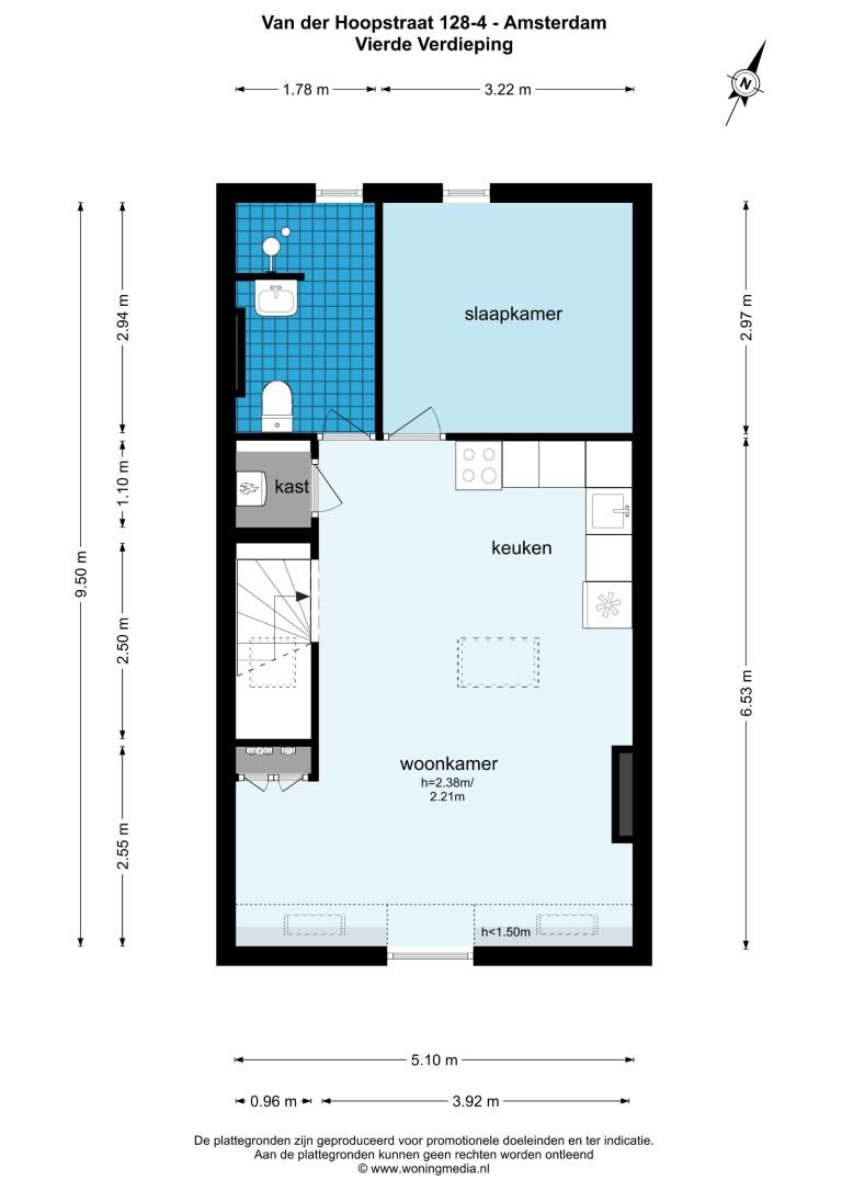 Van der Hoopstraat 128 IV, Amsterdam, Noord-Holland Nederland, 1 Slaapkamer Slaapkamers, ,1 BadkamerBadkamers,Appartement,Huur,Van der Hoopstraat 128 IV,4,1435