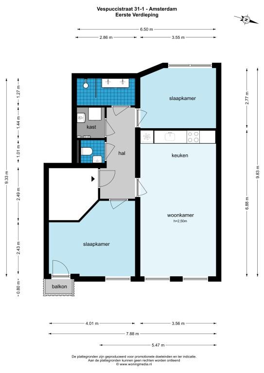 Vespuccistraat 31 I 1057 CK, Amsterdam, Noord-Holland Nederland, 2 Slaapkamers Slaapkamers, ,1 BadkamerBadkamers,Appartement,Huur,Vespuccistraat,1,1450