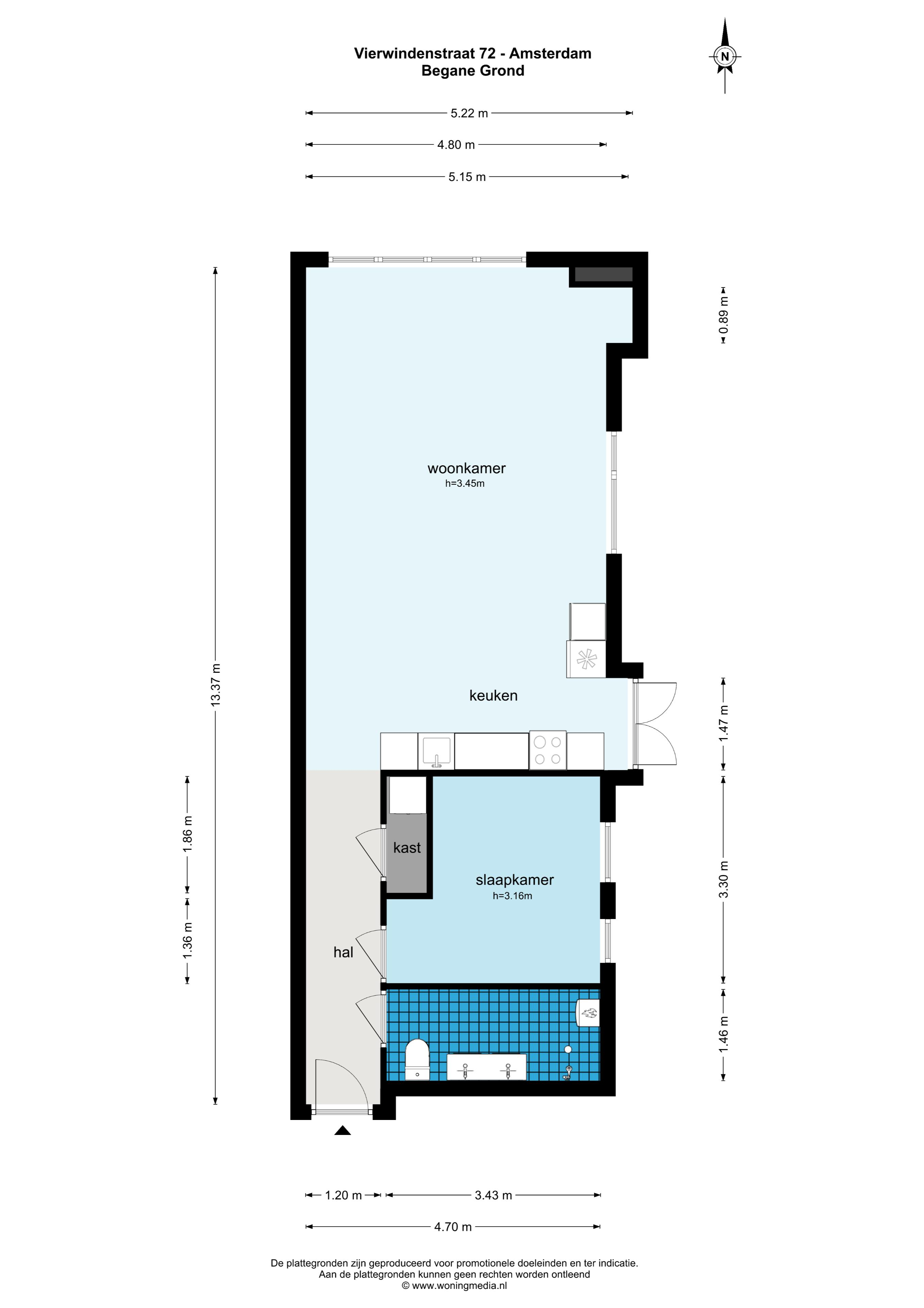 Vierwindenstraat 72 1013 LA, Amsterdam, Noord-Holland Nederland, 1 Slaapkamer Slaapkamers, ,1 BadkamerBadkamers,Appartement,Huur,Vierwindenstraat,1494