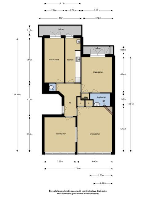 Amstelveenseweg 332 III 1076 CT, Amsterdam, Noord-Holland Nederland, 2 Slaapkamers Slaapkamers, ,1 BadkamerBadkamers,Appartement,Huur,Amstelveenseweg 332 III,1499