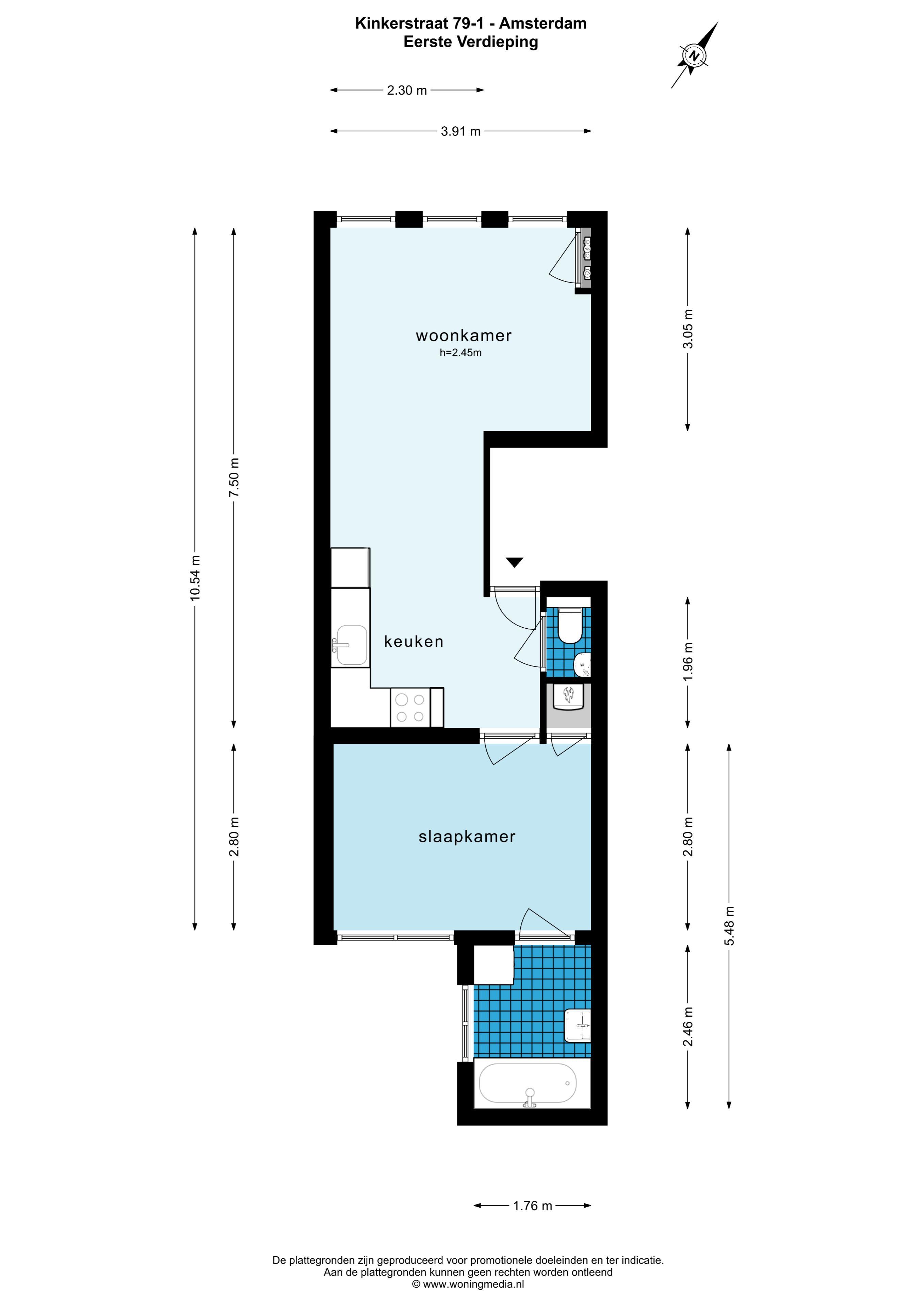 Kinkerstraat 79 I 1053 DH, Amsterdam, Noord-Holland Nederland, 1 Bedroom Bedrooms, ,1 BathroomBathrooms,Apartment,For Rent,Kinkerstraat,1,1504