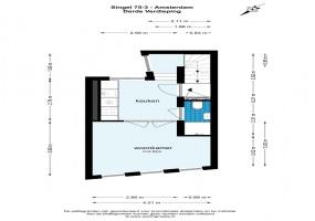Singel 75 III 1012 VE, Amsterdam, Noord-Holland Netherlands, 2 Slaapkamers Slaapkamers, ,1 BadkamerBadkamers,Appartement,Huur,Singel,3,1507