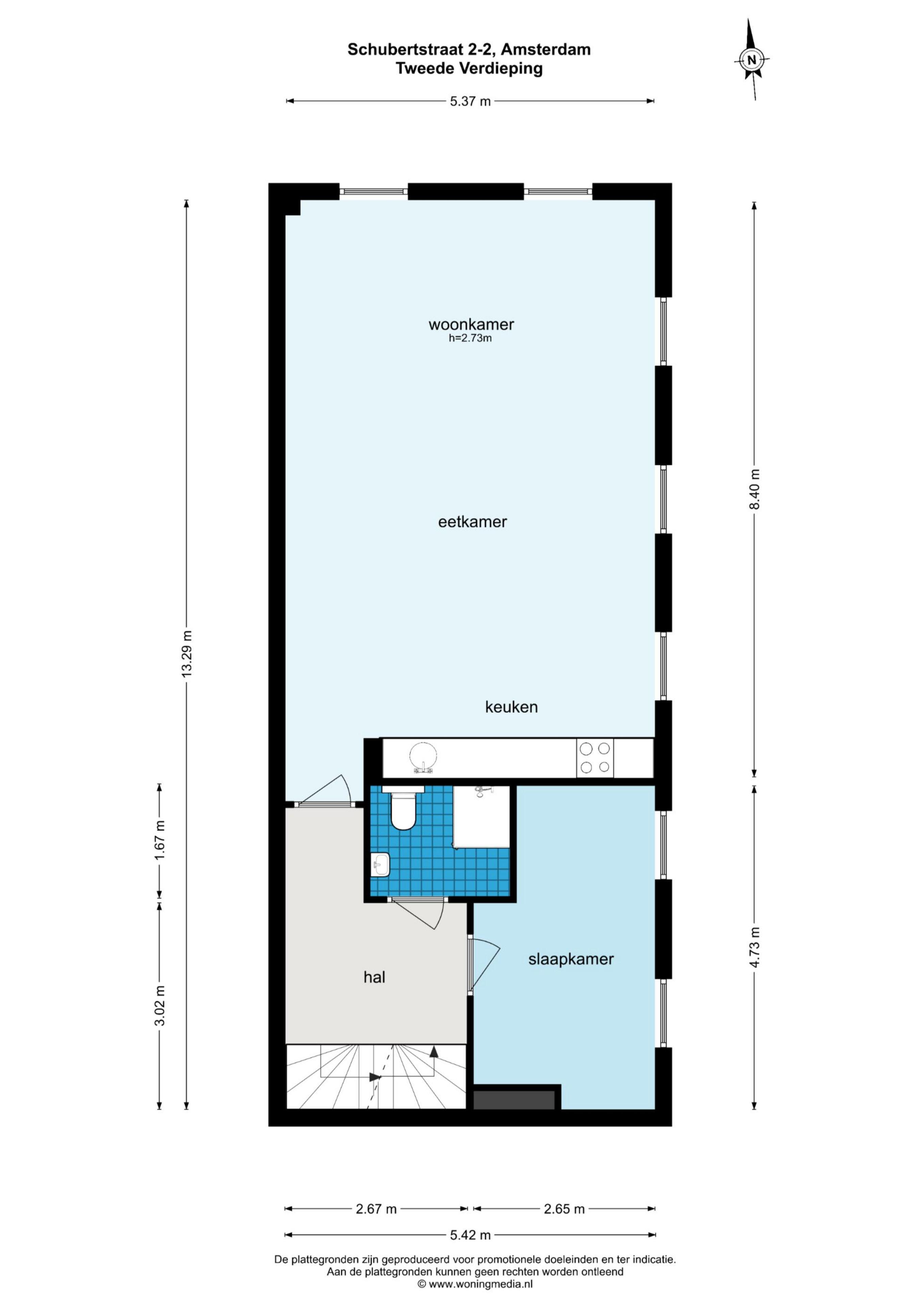 Schubertstraat 2 C 1077 GS, Amsterdam, Noord-Holland Nederland, 2 Slaapkamers Slaapkamers, ,1 BadkamerBadkamers,Appartement,Huur,Schubertstraat,2,1528