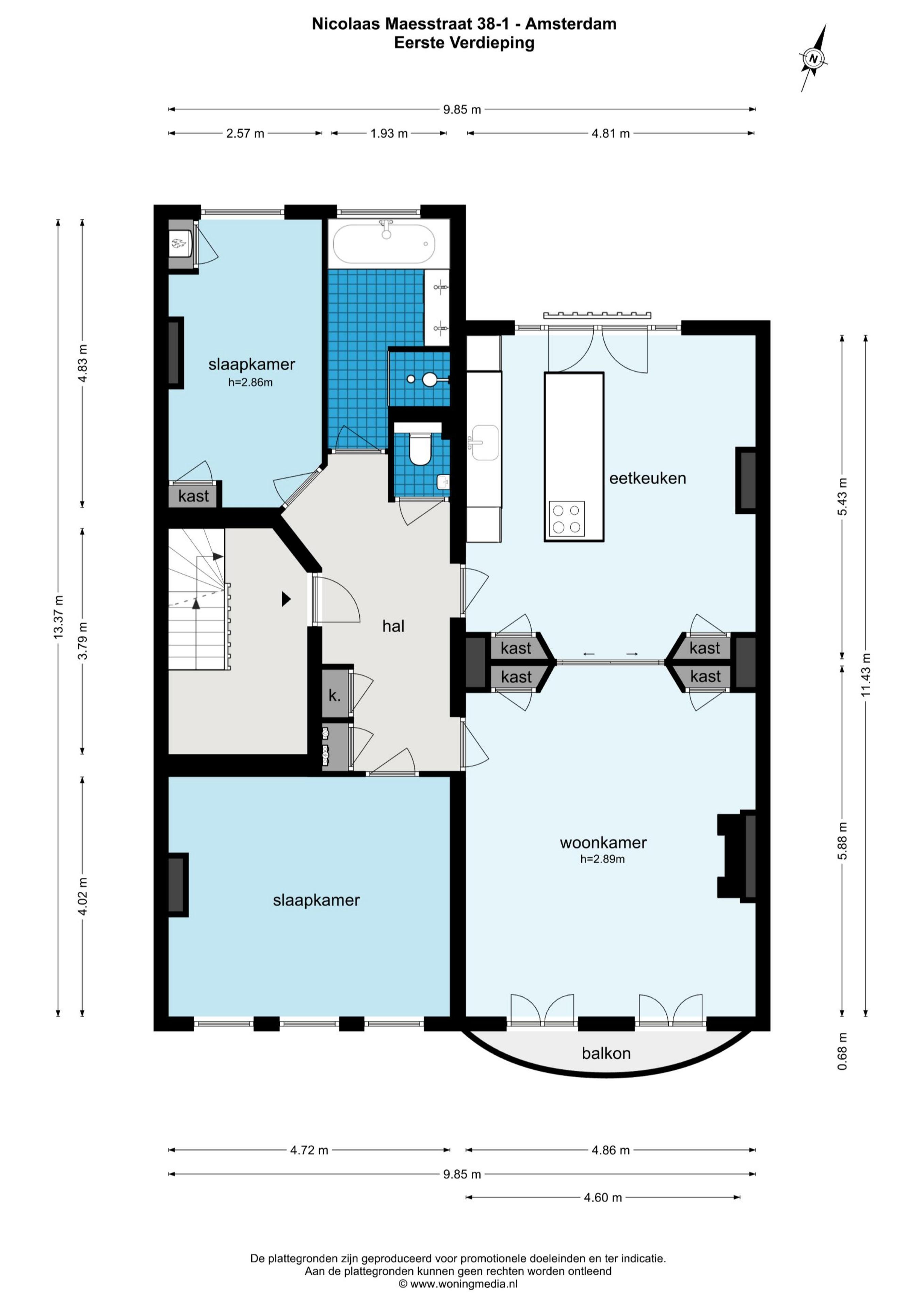 Nicolaas Maesstraat 38 II 1071 RB, Amsterdam, Noord-Holland Nederland, 2 Slaapkamers Slaapkamers, ,1 BadkamerBadkamers,Appartement,Huur,Nicolaas Maesstraat ,2,1530