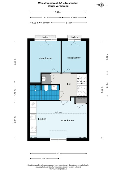 Woestduinstraat 5 III 1058 SX, Amsterdam, Noord-Holland Nederland, 2 Slaapkamers Slaapkamers, ,1 BadkamerBadkamers,Appartement,Huur,Woestduinstraat ,3,1565