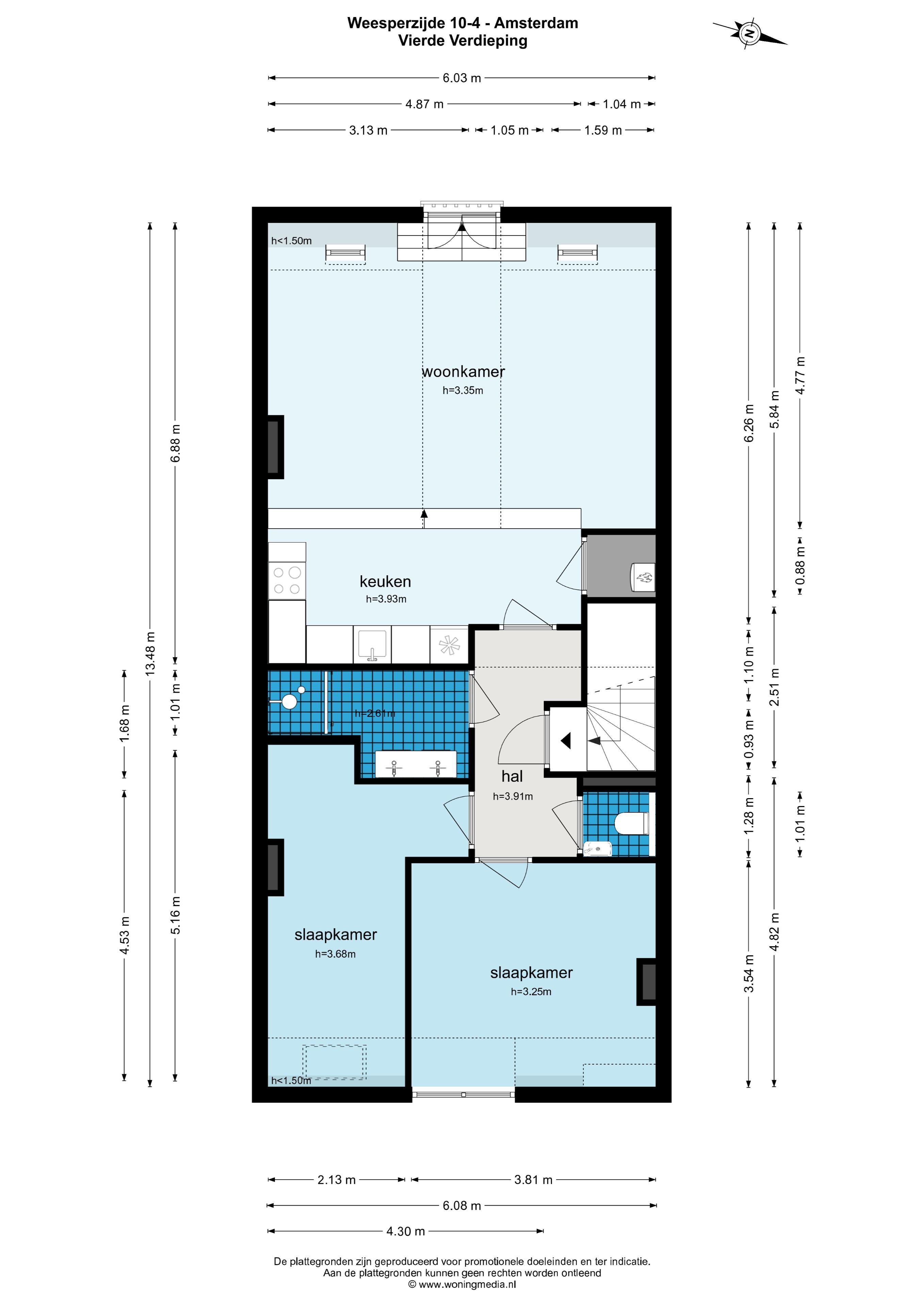 Weesperzijde 10-IV 1091 EA, Amsterdam, Noord-Holland Nederland, 2 Slaapkamers Slaapkamers, ,1 BadkamerBadkamers,Appartement,Huur,Weesperzijde,4,1577