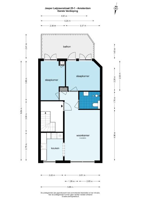 Jasper Leijnsenstraat 25, Amsterdam, Noord-Holland Nederland, 2 Slaapkamers Slaapkamers, ,1 BadkamerBadkamers,Appartement,Huur,Jasper Leijnsenstraat ,1,1591